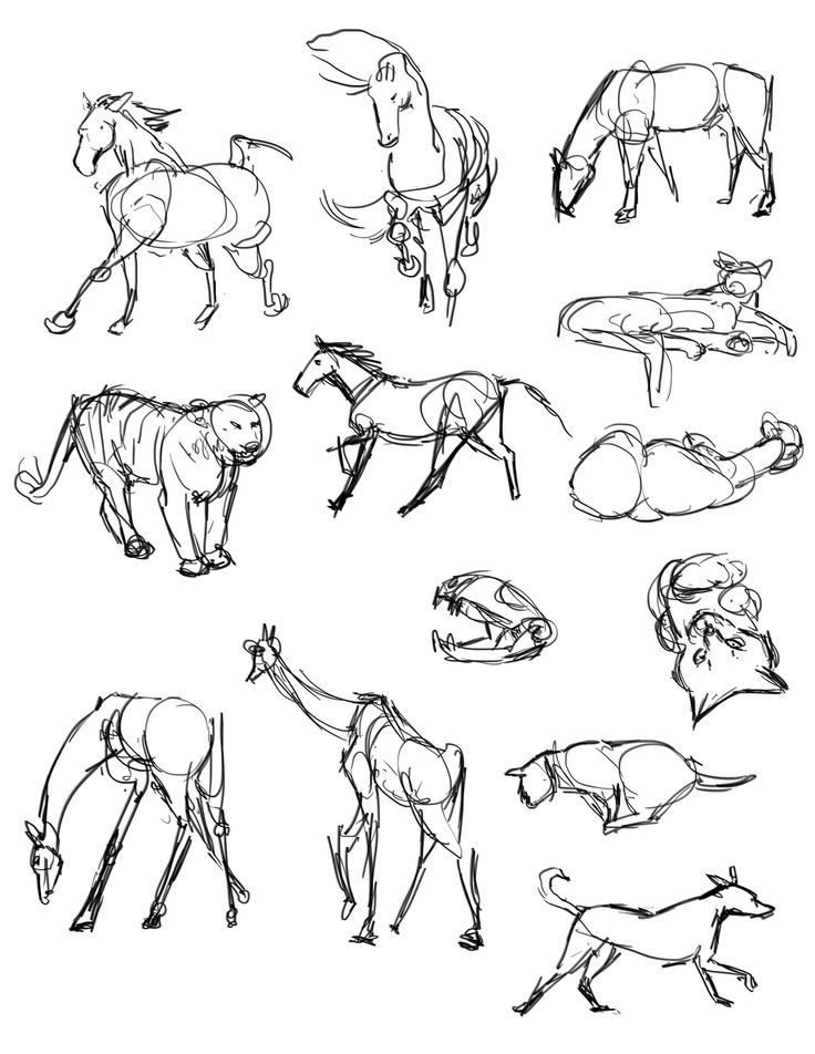 11 best oil pastel gesture drawings images on pinterest