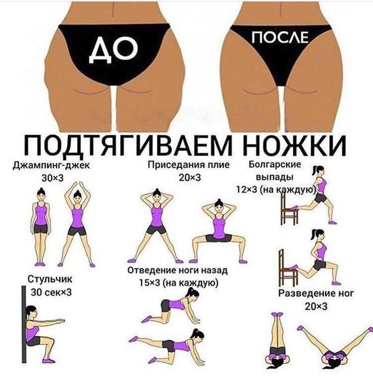 Какие упражнения чтоб похудели ляшки