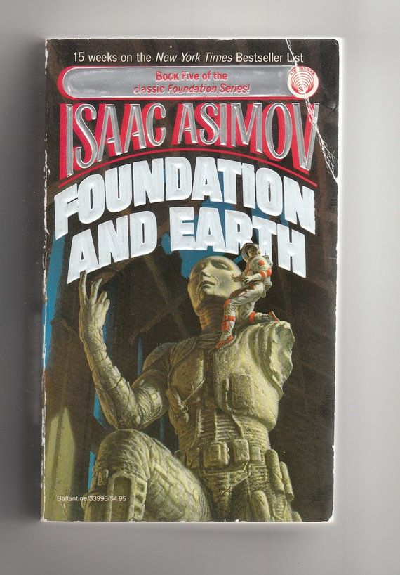 Science Book Cover Ideas : Isaac asimov foundation and earth s sci fi vintage