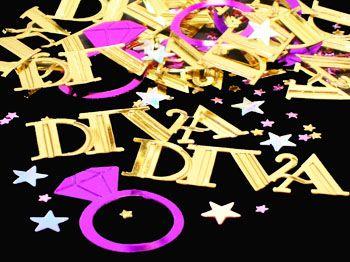 Diva Party Decorations | DIVA DIAMOND RING CONFETTI, Diva Confetti, Diamond Ring Confetti