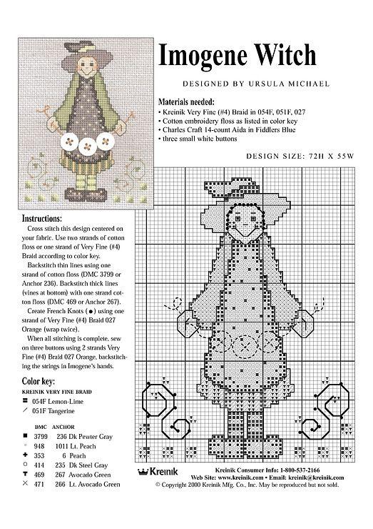 witch shoe cross stitch pattern freebie