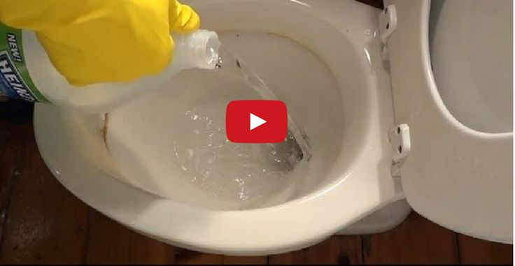how to clean hard water stains off toilet bowl