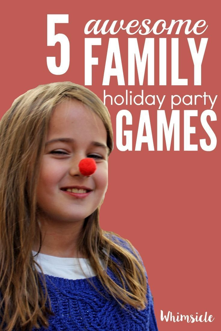 Need some holiday party ideas?  Try these holiday games for kids.  Family friendly games are where your party is at.  Trust me, you'll want to play too.  via /awhimsiclelife/