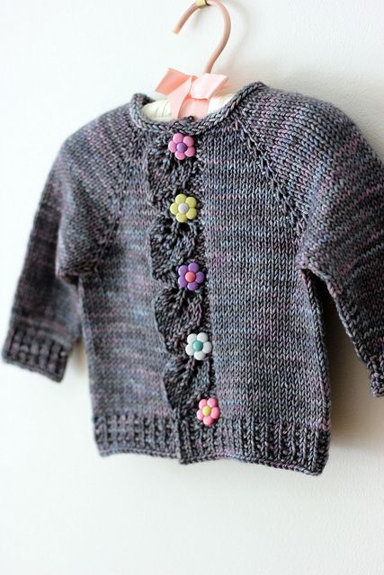 Link to free pattern: Cascade by Raya Budrevich Sweet little baby sweater.