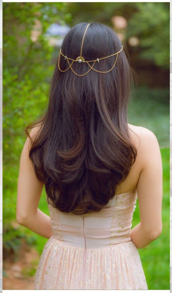 Nice simple hair for brides