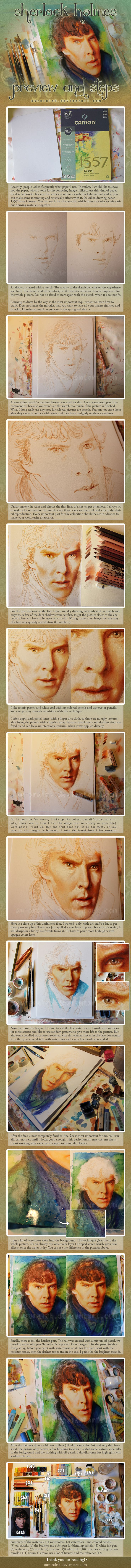 Sherlock Holmes Preview and Steps Tutorial by *auroraink on deviantART