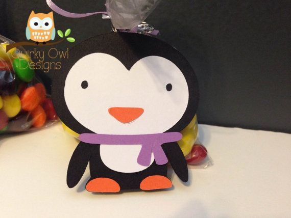Purple Penguin ONEderland Birthday Party Favor Tag ~ Winter Wonderland Party ~ Girls First Birthday, Winter Baby Shower, Baby Girl  Party
