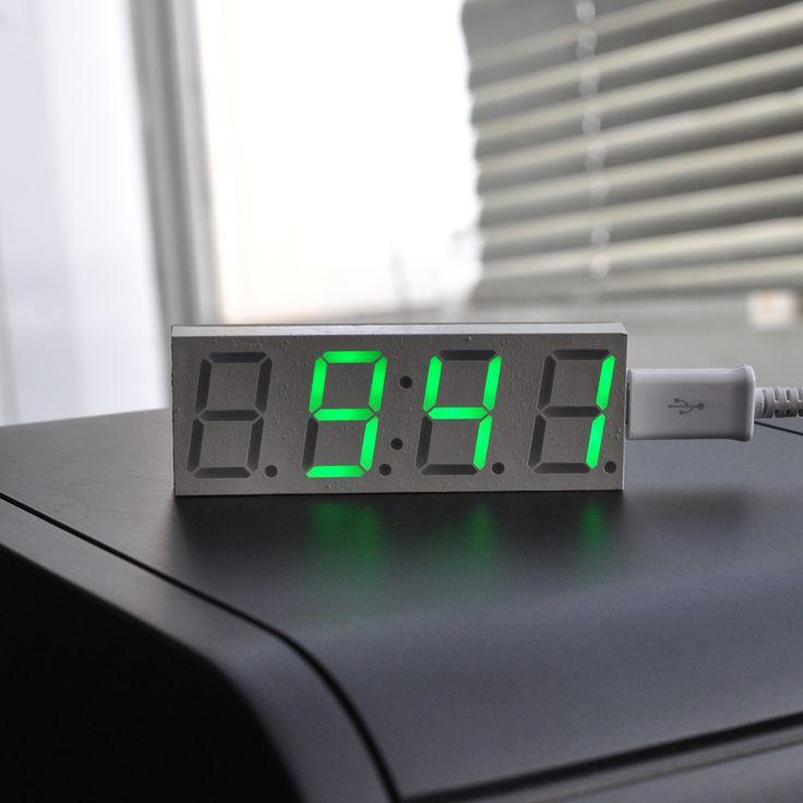 DS3231 Electronic DIY 0.8inch Dot Matrix LED Clock Kit Digital Display Green Red Blue White Light  5V Mciro USB Car Clock #jewelry, #women, #men, #hats, #watches, #belts