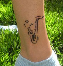 saxophone tattoos - New Item On My Wishlist this year.