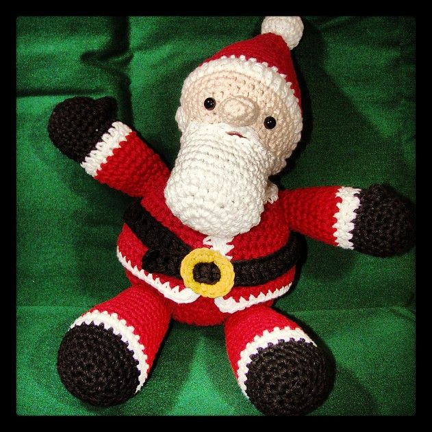 Amigurumi Santa Patterns : Amigurumi Crochet Pattern - Easy Holiday Christmas Santa ...