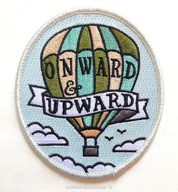 Onward & Upward Patch by HannahRosengren on Etsy