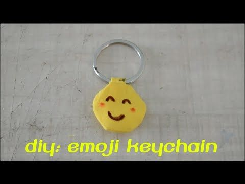 DIY: Emoji Keychain - YouTube