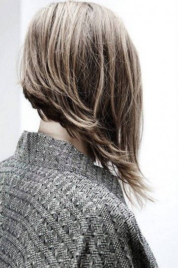 I actually have this cut, and can't stand when my hair does this, but now that I see it from the back, I think it looks pretty cool!