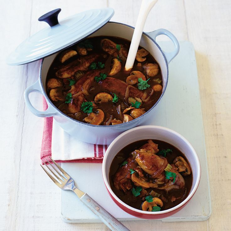 This sausage and Guinness casserole recipe allows you to make one dish and freeze a second so you'll have a comforting dinner ready for a rainy day, with no extra effort.