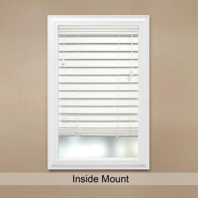 Home Decorators Collection White 2 1 2 In Premium Faux Wood Blind 72 In W X 64 In L Actual