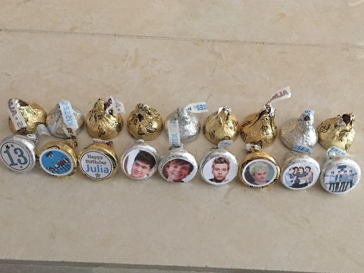 5 SOS birthday ideas - Hershey kisses with band stickers on the bottoms.  #5sos #5secondsofsummer #5sosbirthday #michaelclifford #lukehemmings #calumhood #ashtonirwin #hemmo1996 #5secondsofsummerbirthday #hemmings #clifford #hood #irwin #birthday #5soscake  #luke #calum #michael #ashton #cashton #mashton #lashton #cake #muke #malum #drfluke #calpal #mikerowave #smash #5sauce #cliffoconda