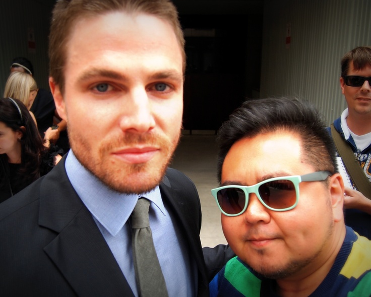 Stephen Amell and me.