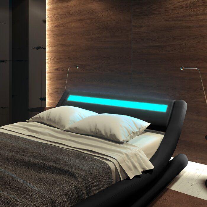 Karratha Upholstered Low Profile Platform Bed In 2020 Bedroom Bed Design Low Bed Frame Luxury Bedroom Master