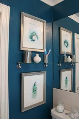 Swoon Worthy: The Transformative Power of Paint: Peacock Blue Bathroom