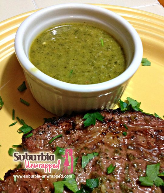 Chimichurri Dipping Sauce and Marinade Recipe