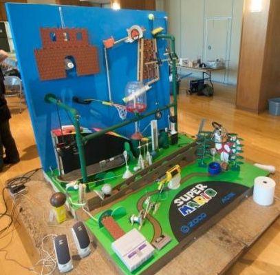 Super Mario Rube Goldberg Machine Wins Contest «Craziest Gadgets