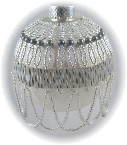 beaded ornament covers free patterns | Belle of the Ball Ornament Kit Silver