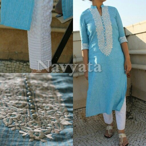 Fabric - Linen, Work - Resham work For further details contact us on + 919892398900, + 919930413660