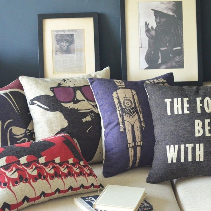 Movie Posters Star Wars Pillow Case Cushion Cover Square 18\
