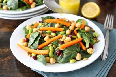 Spinach and Edamame Salad from tastykitchen.com