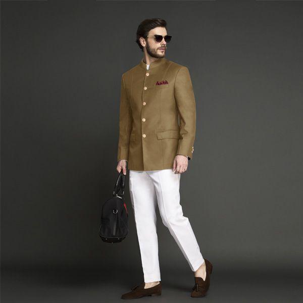 Columbia Brown Jodhpuri Suit -   Custom