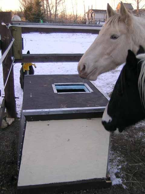Insulated, Solar Horse Watering Tank. The engineer in me cannot resist making this someday!