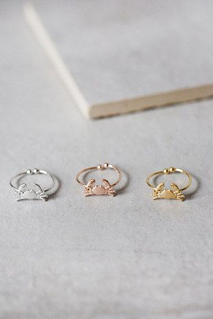 These sparkly crab claws. | 23 Rings That Are So Cute And So Cheap You'll Freak