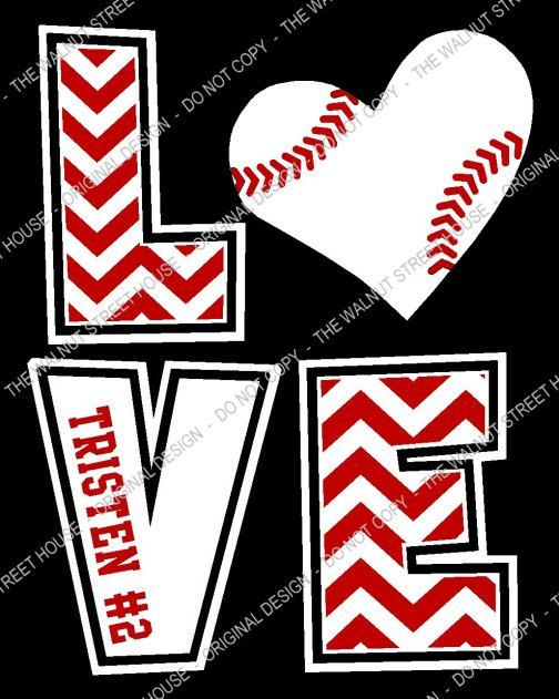 youth size original design baseball chevron love t shirt
