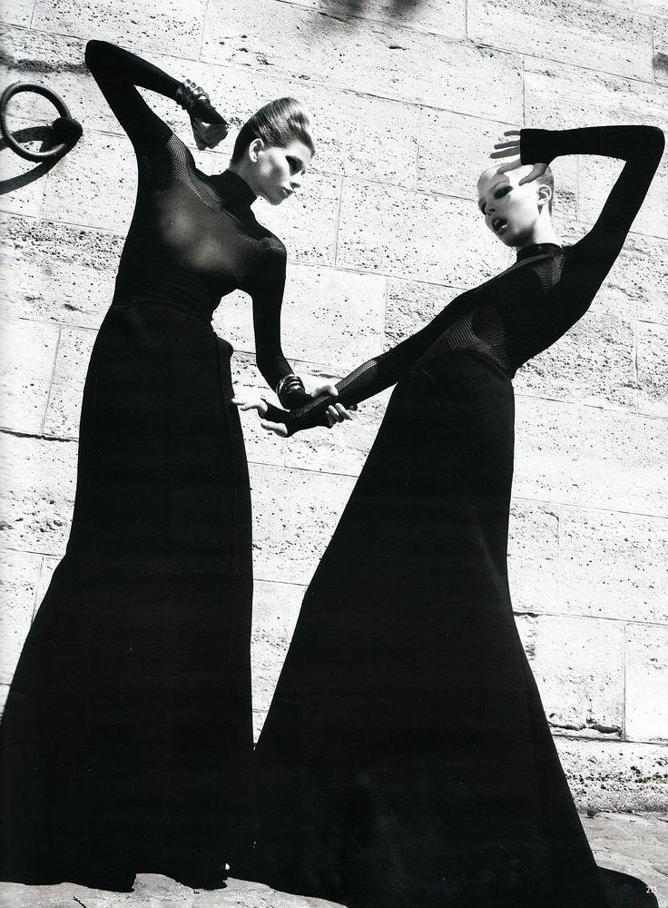 Hana Soukupova & Tanya Dziahileva by Paola Kudacki for Vogue Germany, November 2009