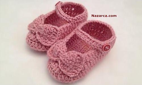 Tığla Bebeklerin Evde ve Dışarıda giyebileceği Örgü Bebek Ev Ayakkabısı yapılışı Türkçe videolu anlatımlı Kolay Örgü Fiyonklu Patik Örneği. Örme Ev Ayakkabıları Kış aylarında olduğu kadar Yaz aylar…
