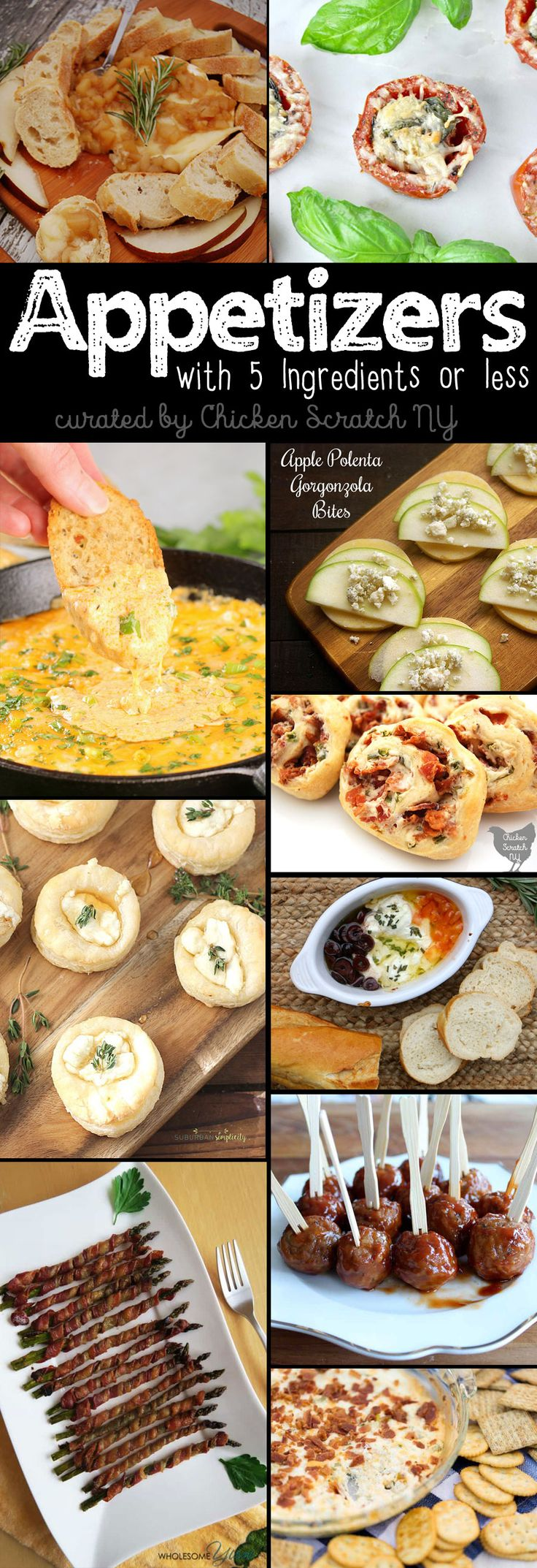 Easy appetizer recipes with 5 ingredients or less make sure your parties start off without a single hiccup and make entertaining fun again  via @AleciaCSNY