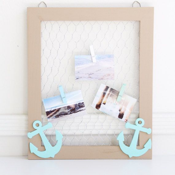 Nautical Anchor Picture Frame//Wooden Picture Frame//Chicken
