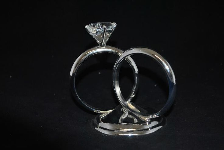 Wedding  Two Rings Metal Cake Topper - WeddingWish.com.au