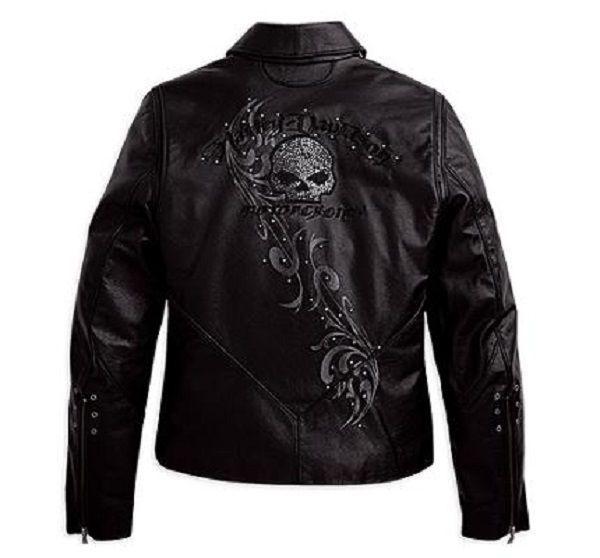 Harley davidson skull leather jacket