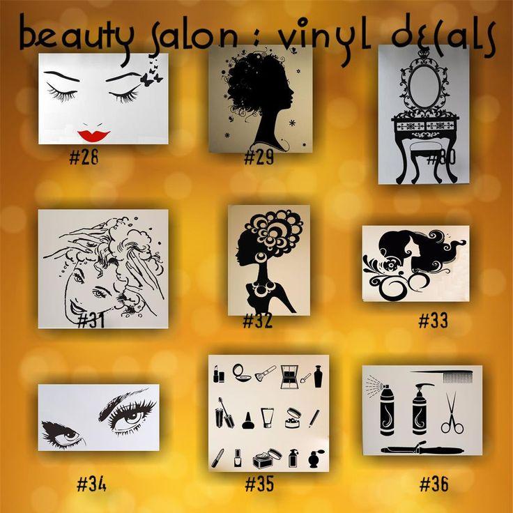 BEAUTY SALON vinyl decals 28 36