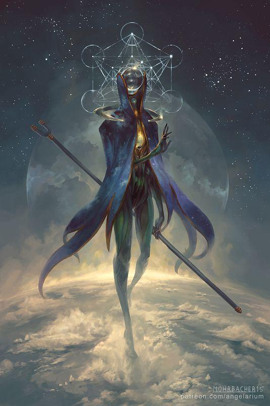 Eistibus, Angel of Divination - Angelarium - Series 3 by Peter Mohrbacher - Behance