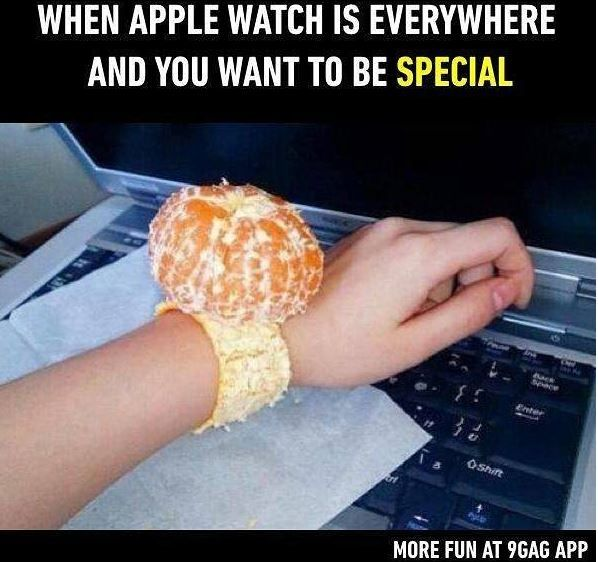 Photo: When You Can't Afford An Apple Wrist Watch So You Get A Tangerine Watch http://ift.tt/2vajhpx