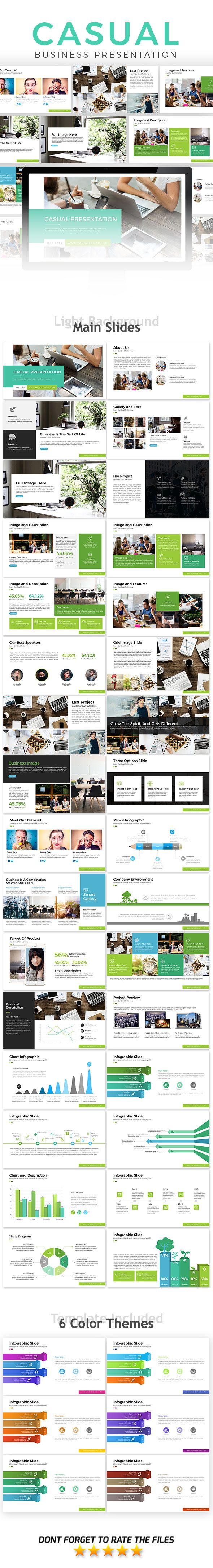 Casual Business Presentation Template - Business PowerPoint Templates