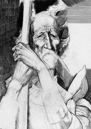 Ilie Bogdesco, graphic art. Don Quijote.