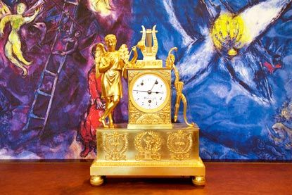 Pendola Francese da tavolo periodo Impero - French Empire Period table clock - Robbi http://www.lodishop.com/negozio/robbi-orologiaio/ #watches #clocks   #watchmakers #orologi # pendole #lodi #italy