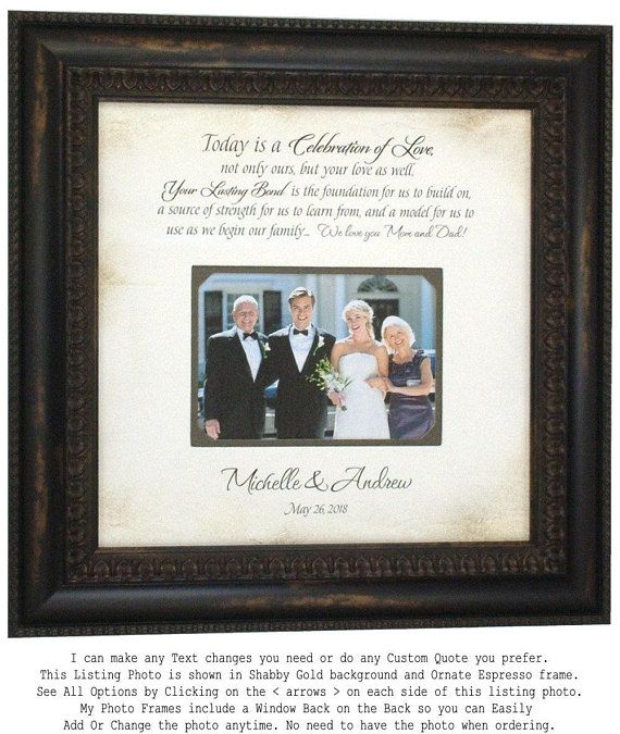 Mother Of The Bride Wedding Day Gifts For Parents Of The Bride Etsy Wedding Gifts For Groom Handmade Wedding Gifts Framed Wedding Photos