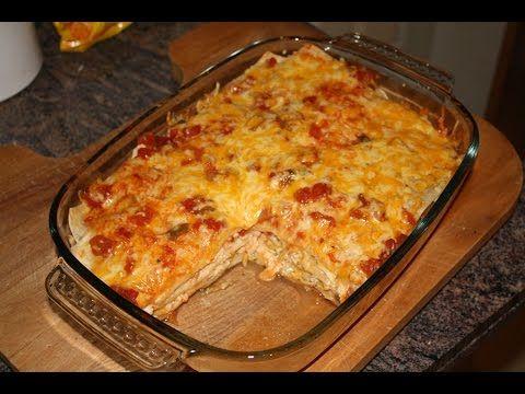 How to make Chicken Enchilada Casserole - YouTube