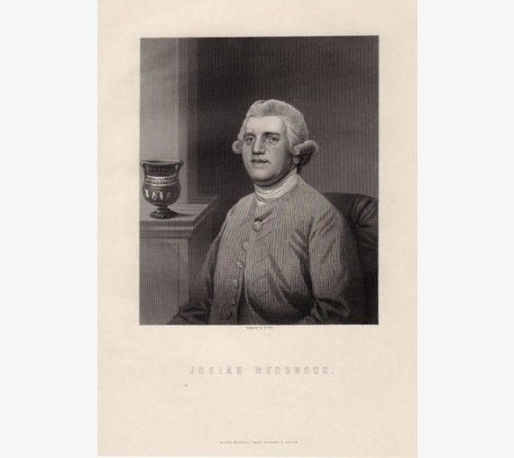 Josiah Wedgwood portrait engraving pottery Etruria