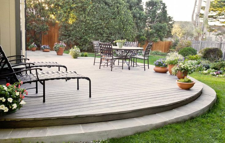 Inexpensive Backyard Ideas | Terrace and Garden Designs: Classic Wooden Backyard Decking Ideas With ...