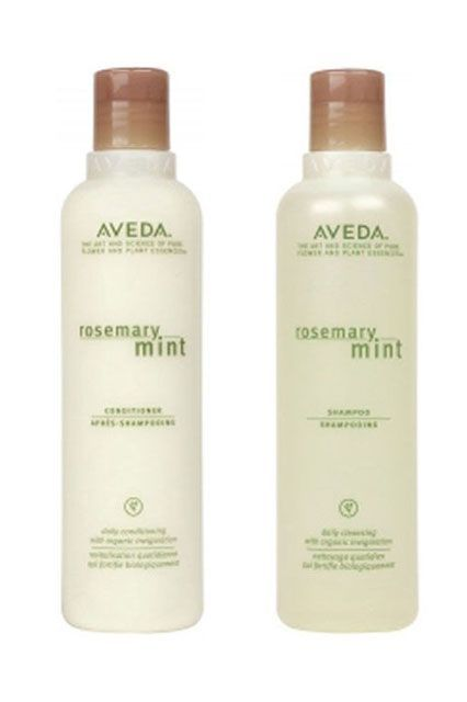 """""""My hair is fairly straight and fairly thick. This means I don't get too fussy when choosing cleansing products — just about anything will do the trick. But I shampoo almost every day, so I have to love the experience. This Aveda shampoo combines a generous amount of lather (which my husband also likes) with that signature scent that takes me right back to the '90s. And the conditioner is nice and light, so it leaves my hair silky but not shellacked.""""Aveda Rosemary Mint Shampoo, $13.50…"""
